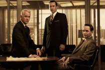 Still of Jon Hamm, Vincent Kartheiser and John Slattery in Mad Men