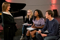 """Patti LuPone, Tony Award winner for the original Broadway production """"Evita,"""" works with 2011 YoungArts Winners"""
