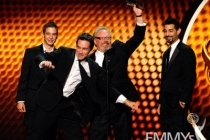 "Winners of Best Cinematography for Nonfiction for ""Survivor"" onstage during the 62nd Primetime Creative Arts Emmy Awards"