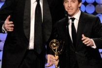 Writer Matthew Senreich (L) and Director/producer Seth Green accepts Outstanding Short-format Animated Program award