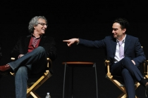 "Lee Aronsohn and Johnny Galecki at ""An Evening With The Big Bang Theory"""