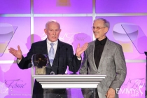Tom and Dick Smothers accepting their Hall of Fame award.