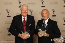 Hall of Fame inductees Don Pardo and Bob Stewart.