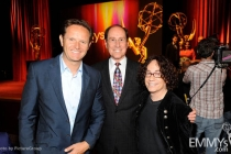 Mark Burnett, Alan Perris & Mike Darnell at the 63rd Primetime Emmy Awards Nominations Ceremony