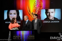 Melissa McCarthy, John Shaffner and Joshua Jackson at the 63rd Primetime Emmy® Awards Nominations Ceremony