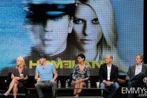 Claire Danes, Damian Lewis, Morena Baccarin, Howard Gordon, Alex Gansa