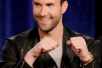Adam Levine onstage during The Voice panel at the 2012 Winter TCA Tour