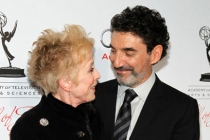 Holland Taylor greets honoree Chuck Lorre at the 21st Annual Hall of Fame Gala