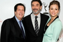 Peter Roth, Chuck Lorre and Kaley Cuoco arrive at the 21st Annual Hall of Fame Gala