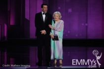 Jon Hamm & Betty White at the 62nd Primetime Emmy® Awards