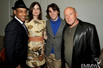 Giancarlo Esposito, Betsy Brandt, R.J. Mitte and Dean Norris attend the VIP reception at an Evening with Breaking Bad