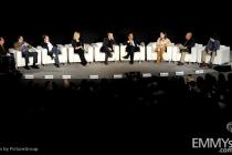 Pete Hammond, Vince Gilligan, Bryan Cranston, Anna Gunn, Aaron Paul, Giancarlo Esposito, Betsy Brandt, Dean Norris & R.J. Mitte