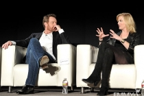 Bryan Cranston and Anna Gunn participate in an Evening with Breaking Bad