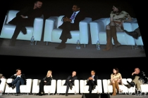 Bryan Cranston, Anna Gunn, Aaron Paul, Giancarlo Esposito, Betsy Brandt and Dean Norris in an Evening with Breaking Bad