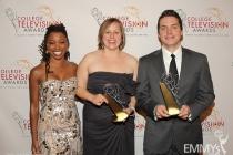Shanola Hampton, Jaye Sarah Davidson & Stephen Griffin at the 32nd College Television Awards