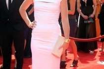 Julia Stiles arrives at the 2011 Primetime Creative Arts Emmys