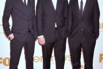 Akiva Schaffer, Andy Samberg, Jorma Taccone arrives at the Academy of Television Arts & Sciences 63rd Primetime Emmy Awards