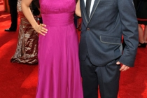 Maria Canals-Barrera and Jake T. Austin attend the Academy of Television Arts and Sciences 2011 Primetime Creative Arts Emmys