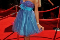 Miss Ukraine arrives at the Academy of Television Arts & Sciences 63rd Primetime Emmy Awards