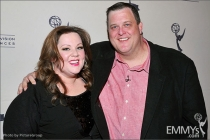Melissa McCarthy and Billy Gardell arrive at an Evening with Mike & Molly