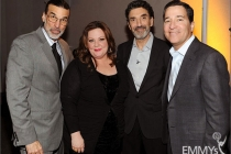 Melissa McCarthy, Chuck Lorre, Bruce Rosenblum and Don Foster attend an Evening with Mike & Molly