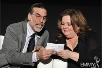 Don Foster and actress Melissa McCarthy participates in an Evening with Mike & Molly
