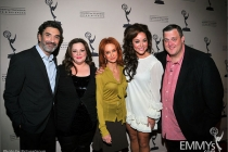 Melissa McCarthy, Chuck Lorre, Swoosie Kurtz, Katy Mixon and Billy Gardell arrive at an Evening with Mike & Molly