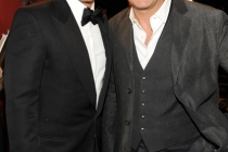 Rob Lowe (L) and executive producer Mark Burnett (R) backstage