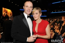 Brian F. O'Byrne (L) and Kate Winslet