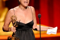 Ellen Lewis accepting her award at the Academy of Television Arts and Sciences 2011 Primetime Creative Arts Emmys