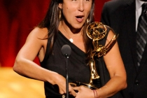 Laura Rosenthal her award at the Academy of Television Arts and Sciences 2011 Primetime Creative Arts Emmys