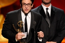 Robert J. Ulrich and Eric Dawson accepting their award at the 2011 Primetime Creative Arts Emmys