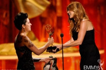 Makeup team from Boardwalk Empire accepting their award at the 2011 Primetime Creative Arts Emmys