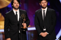 """The team from the """"2010 Espy Awards"""" onstage accepting the award for """"Outstanding Short-Form Picture Editing"""""""
