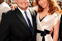Chaz Bono and Kathy Griffin attend the Academy of Television Arts and Sciences 2011 Primetime Creative Arts Emmy Awards