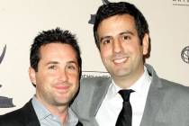 Brian Sher and Farhad Safinia arrive at An Evening With Boss