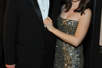 (L-R) Dan Harmon and Alison Brie backstage at the Academy of Television Arts and Sciences 2011 Primetime Creative Arts Emmys