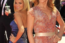 Kristin Chenoweth and Kathy Griffin at the 62nd Primetime Creative Arts Emmy Awards