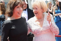 Lily Tomlin and Kathryn Joosten at the 62nd Primetime Creative Arts Emmy Awards