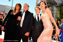 Susan Schneider, Robin Williams, Seth Green and Clare Grant at the 62nd Primetime Creative Arts Emmy Awards