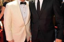 Matthew Weiner and Jon Hamm at the 62nd Primetime Creative Arts Emmy Awards
