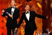Actor Neil Patrick Harris (L) and director Adam Shankman