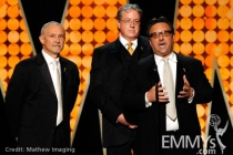 Steve Venezia, Mark Watters and Frank Scherma onstage during the 62nd Primetime Creative Arts Emmy Awards at Nokia Theatre
