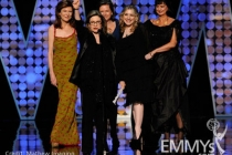 """Winners of Best Casting of a Movie/Mini for """"The Pacific"""" onstage"""