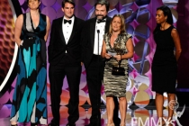 """Winners of Outstanding Nonfiction Special for """"Teddy: In His Own Words"""" onstage during the 62nd Primetime Creative Arts Emmys"""