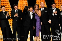 "Winners of Best Reality Program for ""Jamie Oliver's Food Revolution"" onstage during the 62nd Primetime Creative Arts Emmy Awards"