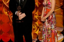 """Winners of Best Main Titles Design for """"Bored to Death"""" onstage during the 62nd Primetime Creative Arts Emmy Awards"""