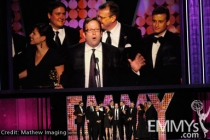"Winners of Outstanding Writing For A Variety, Music, or Comedy Series for ""The Colbert Report"" onstage"