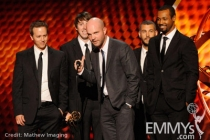 """Winners of Best Commercial for """"The Man Your Man Could Smell Like -  Old Spice Body Wash"""" onstage"""