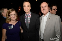 Lucy Hood, Jim Parsons and Alan Perris at the 2013 Performers Emmy Celebration